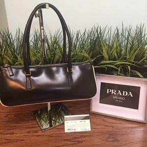 Auth Prada Leather w/ white Authenticity Card